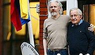 Noam Chomsky, Assange'ı Ziyaret Etti