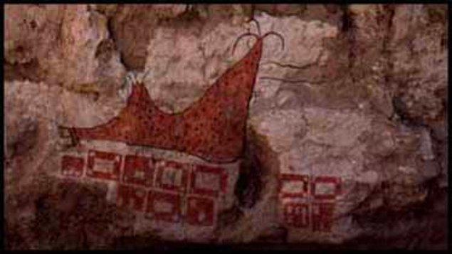 4. Çatalhöyük'te bulunan Dünya'nın ilk haritası kabul edilen Hasan Dağı çizimi