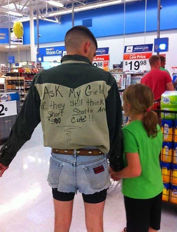 Отец учит своих дочерей на примере. :)
