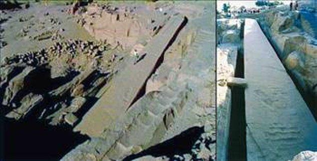 8. Yapımı bitirilmemiş bir Obelisk (dikilitaş)