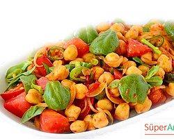 Semizotlu Nohut Salatası Tarifi