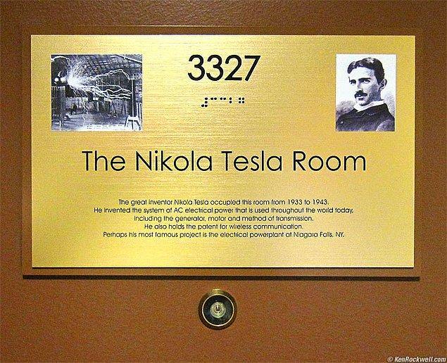 O odaya Nikola Tesla ismi verildi.