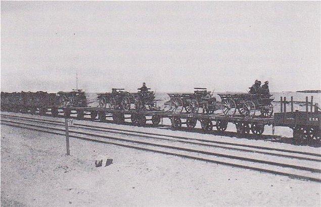 3-) Kantara'dan Hareket - 10 Mart 1919 (Fotoğraf Kantara -Kahire Treni)