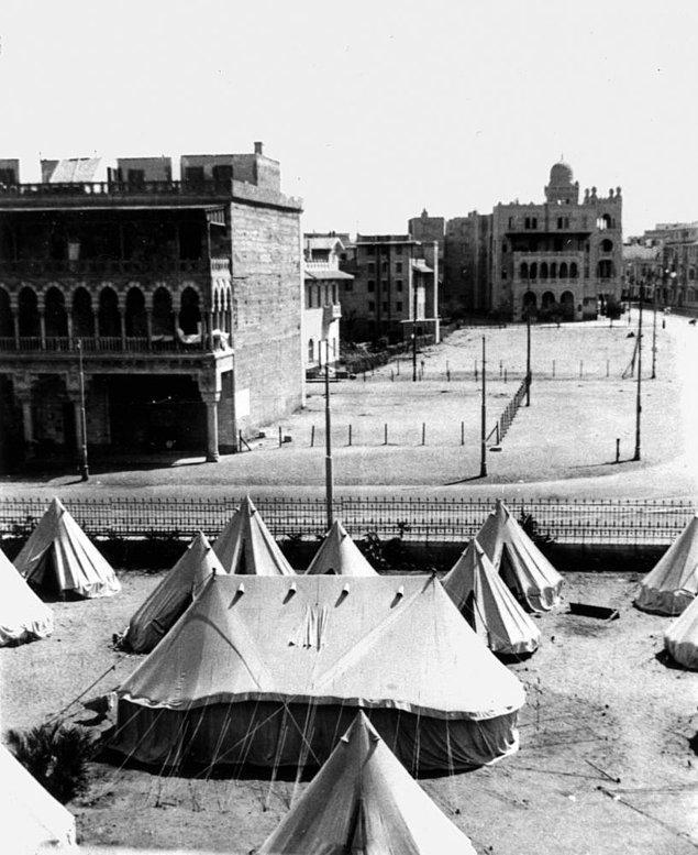 5-) Tel Örgüye Giriş ve Kaydımız - 23 Mart 1919  (Fotoğraf Heliopolis Kampı)