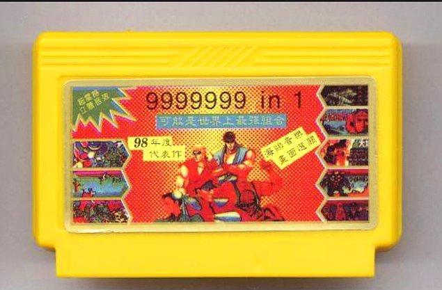 4. Bir kasetin içinde 999.999 oyun olduğu kandırmacası yeterince tecrübe edilmiştir.
