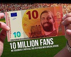 Atletico'dan Arda Turan'lı Banknot!