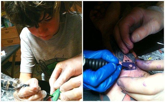 """4. """"Bu dövmeleri yaptırmak için 3 farklı sanatçıyla çalıştım. Son zamanlarda oğlum da bana dövme yapmaya başladı ve bunu gerçekten çok seviyor."""""""