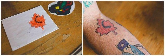 6. Ve o günden bugüne, Anderson her yıl koluna 1 dövme yaptırmış.