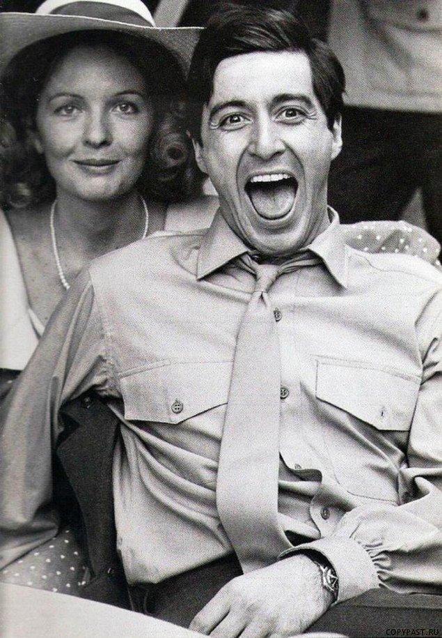 15. The Godfather'ın çekimlerinde Al Pacino ve Diane Keaton.