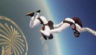 Dubai'de Uçaktan Senkronize Olarak Atlamak Ve Harika Görüntü