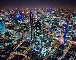Görsel şölen / Işıkları ve gökdelenleriyle gökyüzünden Londra