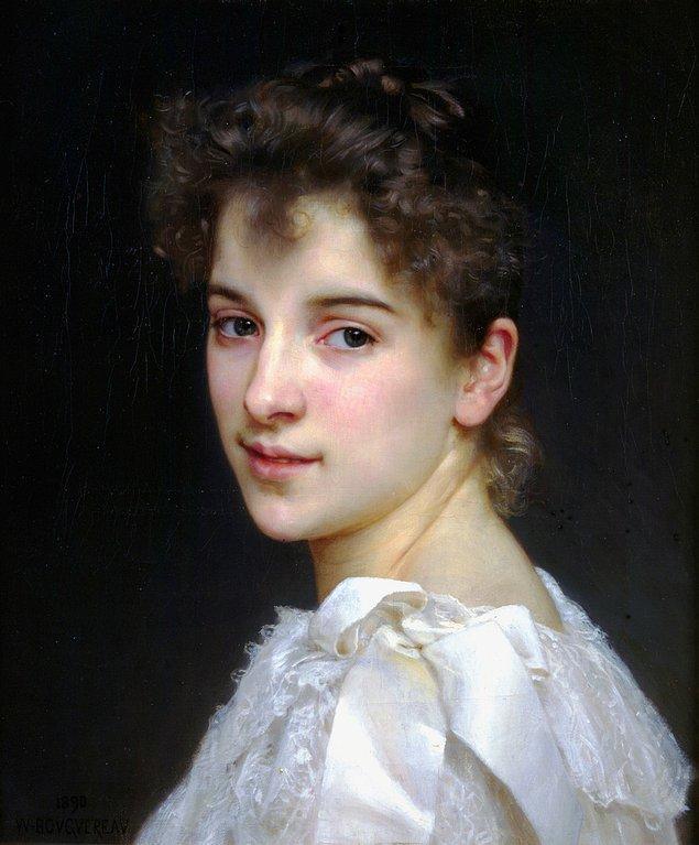 4. Gabriella Cot'un Portresi - William-Adolphe Bouguereau