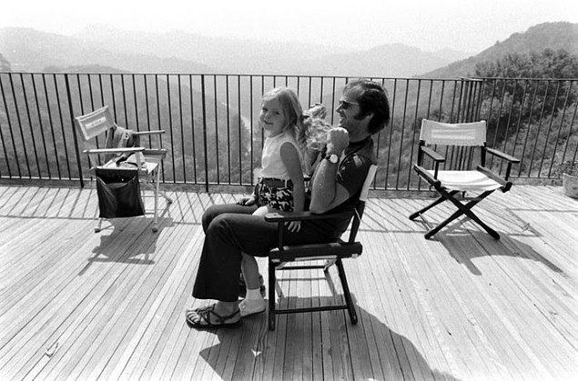 8- Aktör Jack Nicholson ve kızı Jennifer, 1969.