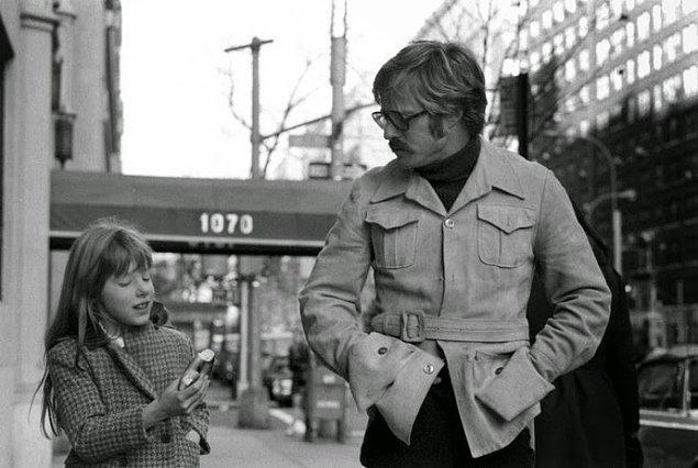 16- Aktör Robert Redford ve kızı Karina, 1969.