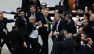 Meclis'te Yine Tekmeli ve Yumruklu Kavga