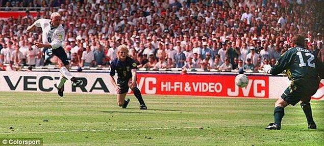 3. Gascoigne'in Euro 1996'da İskoçya'ya attığı meşhur gol