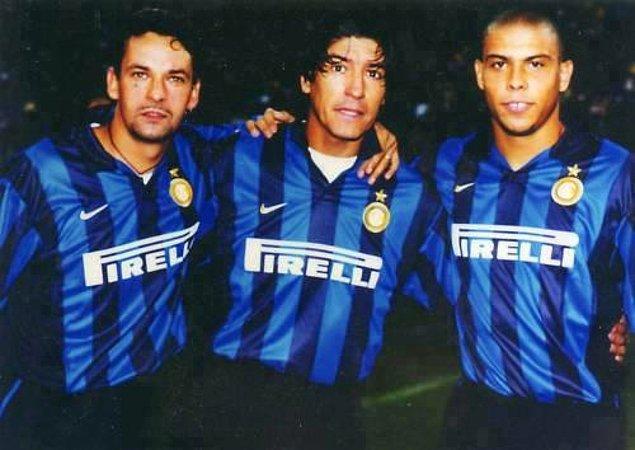 11. Roberto Baggio, Ivan Zamorano ve Ronaldo'nun Inter'de birlikte oynadığı günler