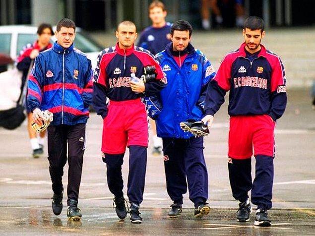 29. Şimdilerde bu üç ismi bir arada görsek epey şaşırırız: Luis Enrique, Jose Mourinho ve Josep Guardiola