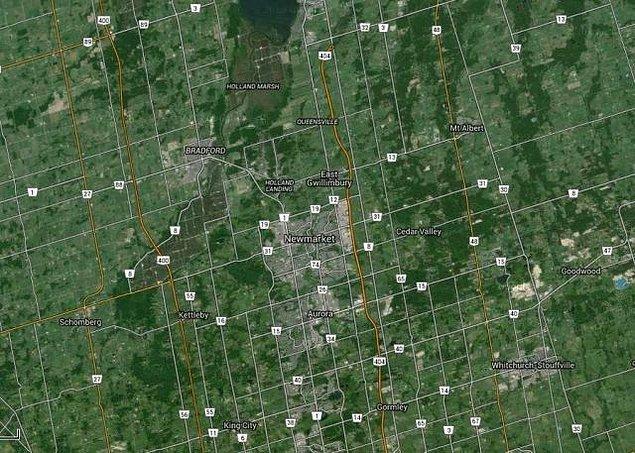 Google Maps'te Newmarket Sağlık Merkezi yazınca çıkan sonuç bu.