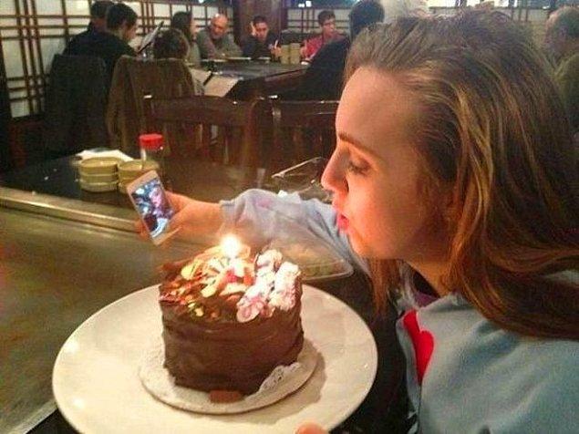 6. Dramatik bir selfie aslında..