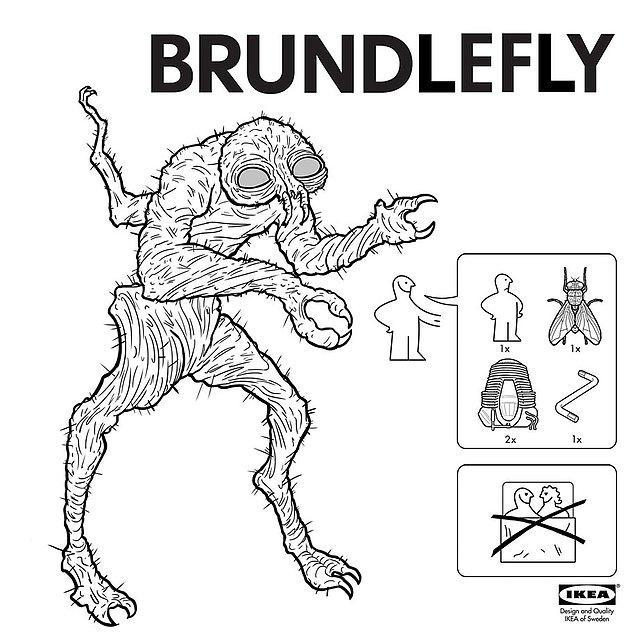 14. Eğer 1986 yapımı 'The Fly' isimli filmde gördüğümüz Brundlefly'den yapmak istiyorsanız...