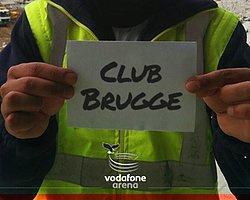 Vodafone Arena Emekçileri Club Brugge'e Mesajı Verdi