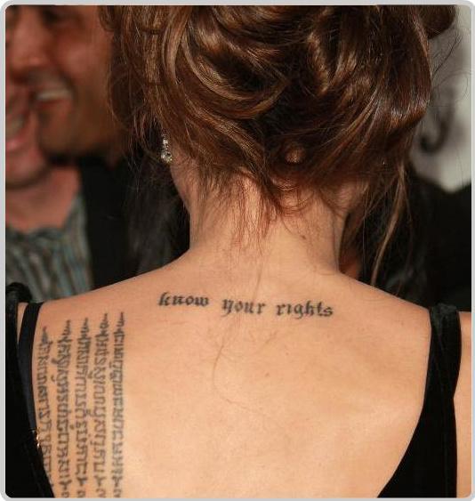 Татуировки Анджелины Джоли. Фото тату и значения