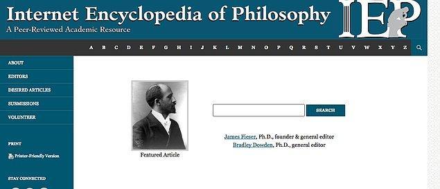 10. Internet Encyclopedia of Philosophy