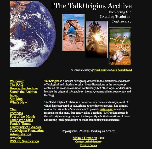 15. The TalkOrigins Archive