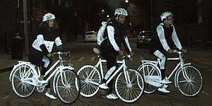 Volvo'dan Bisikletçiler İçin Gece Parlayan Güvenlik Spreyi