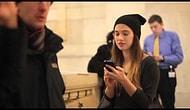 New York, Central Station'da Tanımadığı İnsanları Öpmeye Çalışan Kız | Şaka İçerir