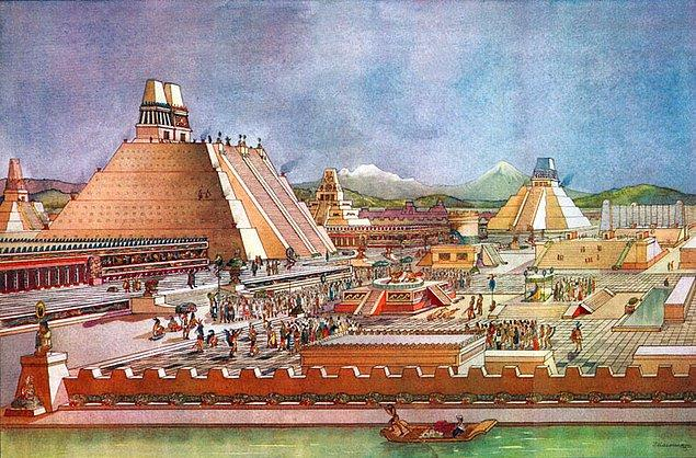 7. Tenochtitlan gelişmiş bir temizlik sistemine sahipti, şehri temizleyen temizlik işçileri vardı ve kent resmen bal dök yala kıvamındaydı.