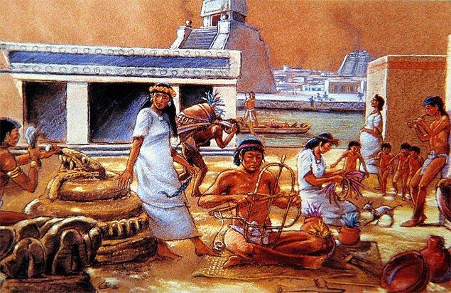 9. Aztekler asla tekerleği icat edemedi!