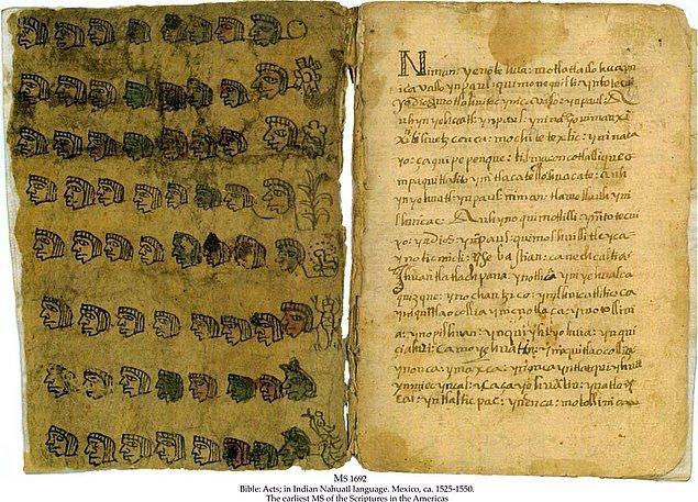 14. Aztekler bu dili kurbanların adlarından vergilere kadar her şeyi kayıt altına almak için son derece başarılı bir şekilde kullanmışlardır.