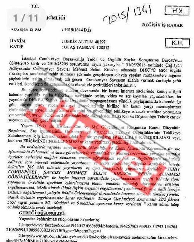 Hürriyet'in paylaştığı mahkeme kararı: