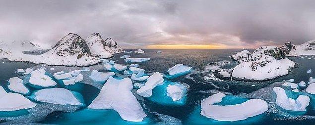12. Bir yıl boyunca kıtadan kopan buz parçalarının, 5 milyar kişinin yıllık tatlı su ihtiyacını karşılayacak miktarda olduğu açıklanmış.