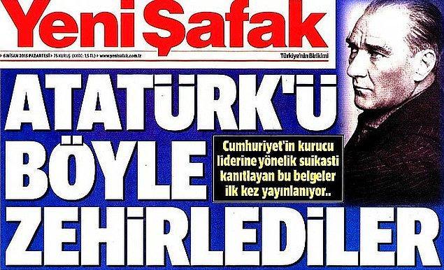 3. Yeni Şafak Bugünkü Manşetiyle Sosyal Medyanın Diline Düştü...