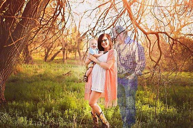 Sierra, fotoğrafçı Kayli Rene'ye, oğlunun babasının da bulunduğu 'gerçek' bir aile fotoğrafı istediğini söyledi.