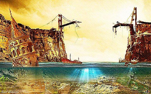 10. İSTANBUL: Bu çalışma ise İstanbul için öngördüğü sonu simgeliyor.