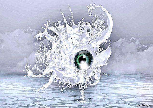 8. GÖZ : Bu gözler neler gördü dedirten yaşanmışlıkları simgelemiş bir çalışma.