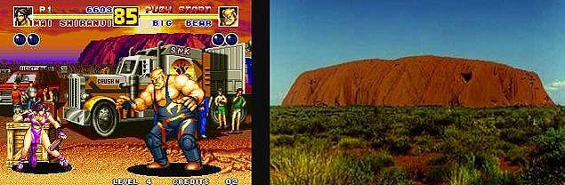 3. Fatal Fury 2 ve Avustralya'daki Uluru Kayası