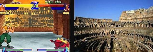 6. Street Fighter Alpha ve Roma'daki Kolezyum
