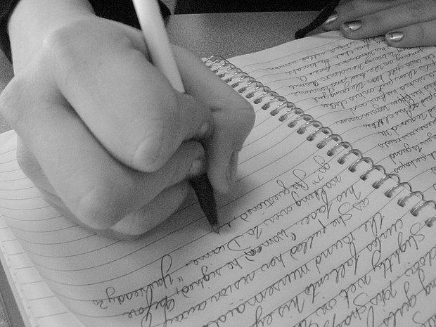 Bastırarak yazarım