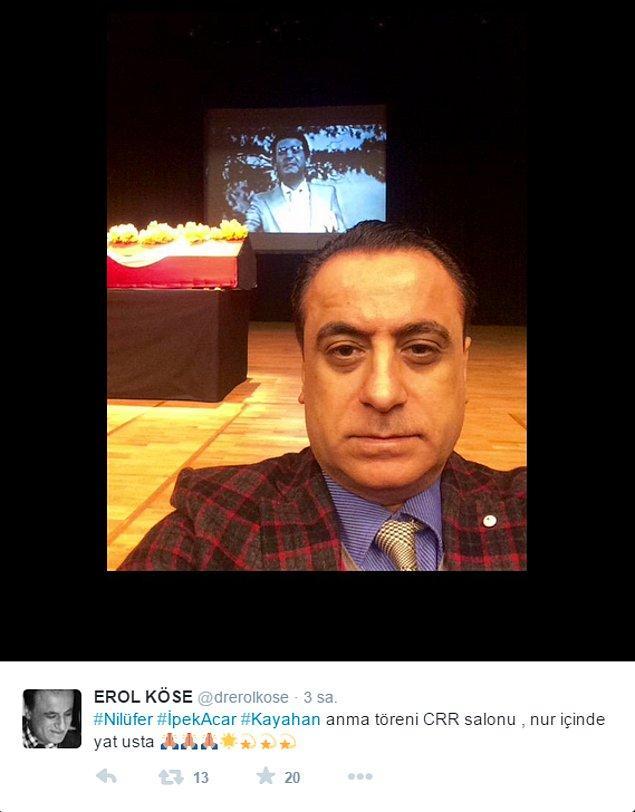 8. Kayahan'ın tabutuyla selfie çekilen  Dr Erol bey. Aklına esmiş yapmış