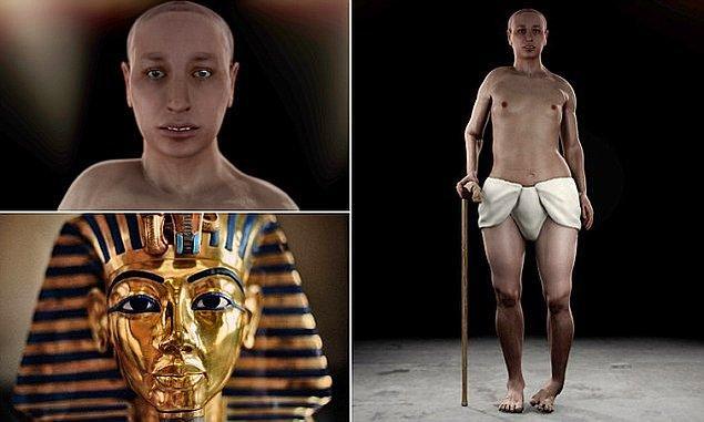 1. Firavun Tutankhamon (Amon'un yaşayan resmi) ya da gerçek adıyla Tutankhaton, M.Ö. 1333 ile M.Ö. 1323 yıllarında Mısır'a hükmetti.