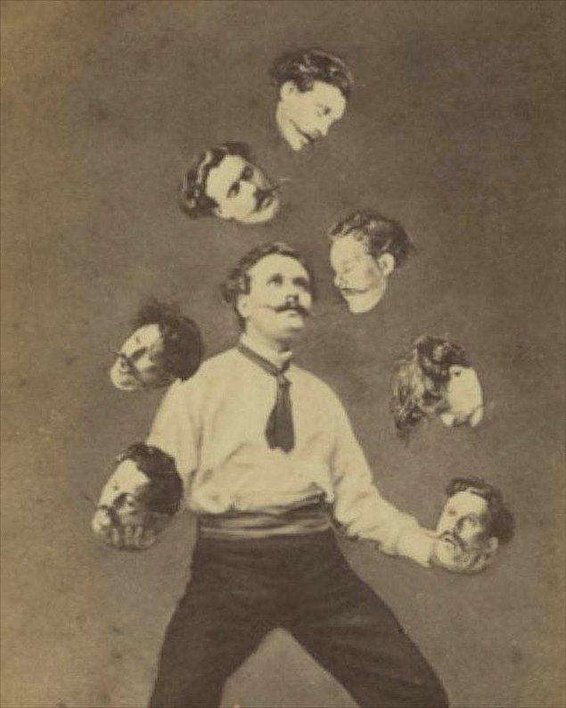 4. Toplar yerine kafasıyla jonglörlük yapan adam, 1880