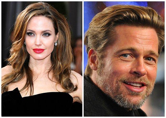 1- Angelina Jolie ve Brad Pitt