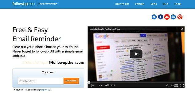 6. Free & Easy  Email Reminder