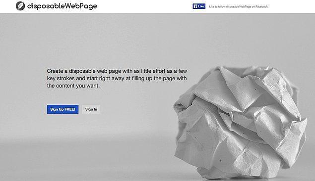 24. disposableWebPage.com
