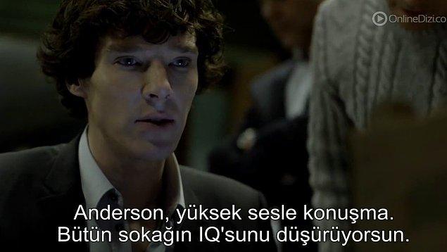 1. IQ, Sherlock için çok önemli.